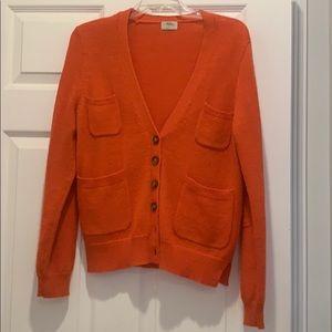 Orange knit cardigan